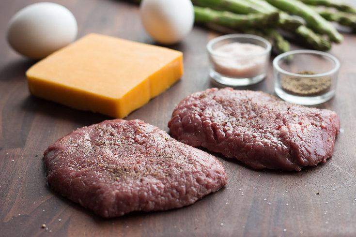 cube steak cheesy scrambled eggs